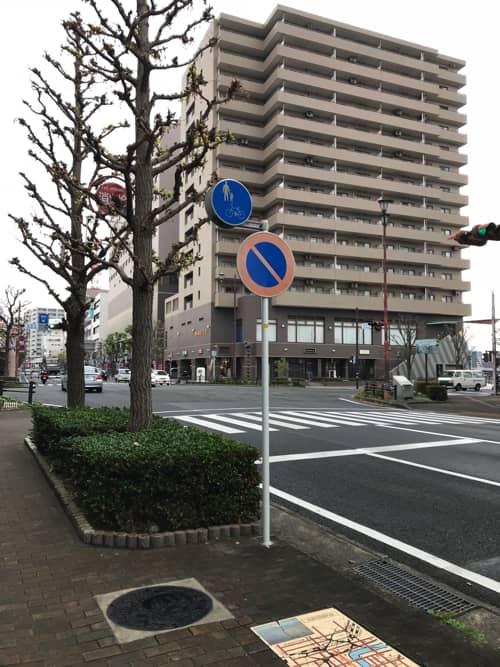 津島善子マンホール(黒)設置場所