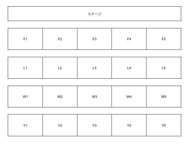 【予想】虹ヶ咲1stライブ「with You」アリーナブロック「虹ヶ咲学園スクールアイドル同好会」