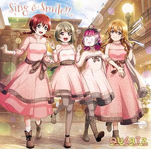 QU4RTZ 1stシングル「Sing & Smile!!/Beautiful Moonlight」ジャケット